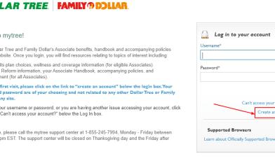 Family Dollar My Tree Employee Login Portal