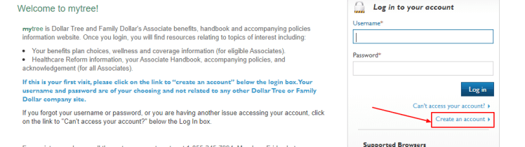 Family Dollar My Tree Employee Login Portal