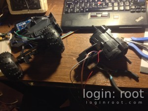 RC car dissasembled