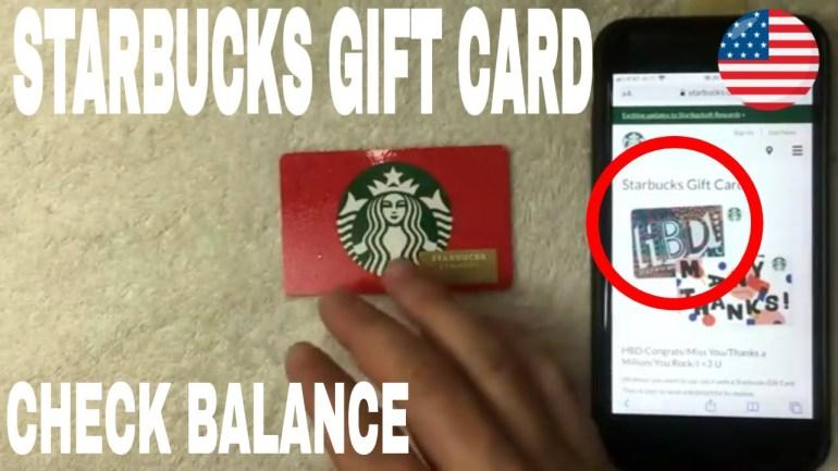 Check Starbucks Gift Card Balance