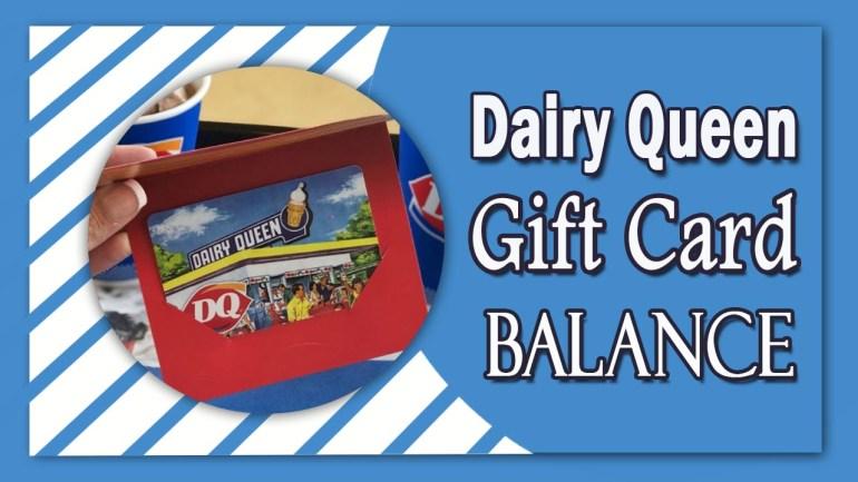 Dairy Queen Gift Card Balance
