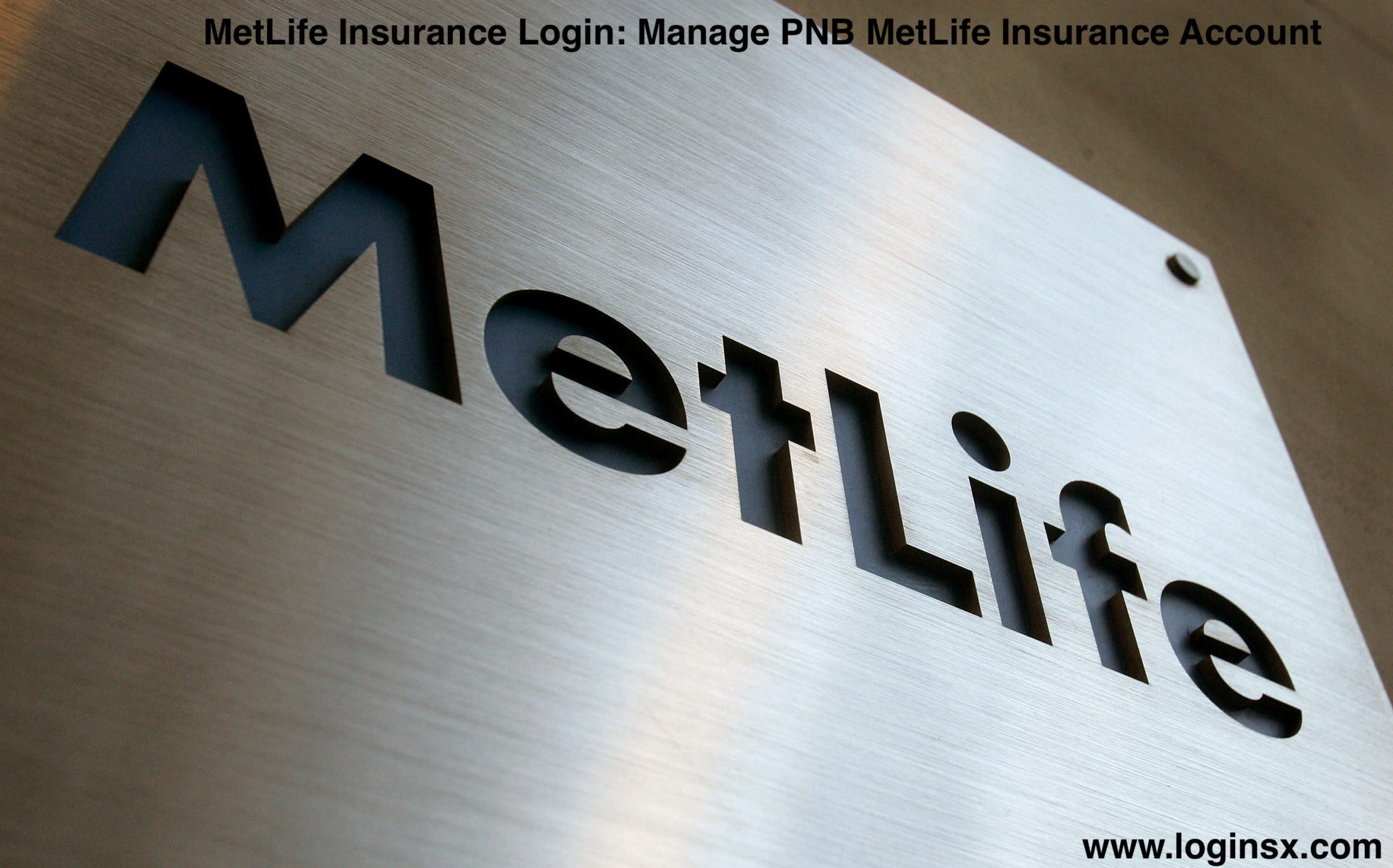 MetLife Insurance Login: Manage PNB MetLife Insurance Account At www.metlife.com