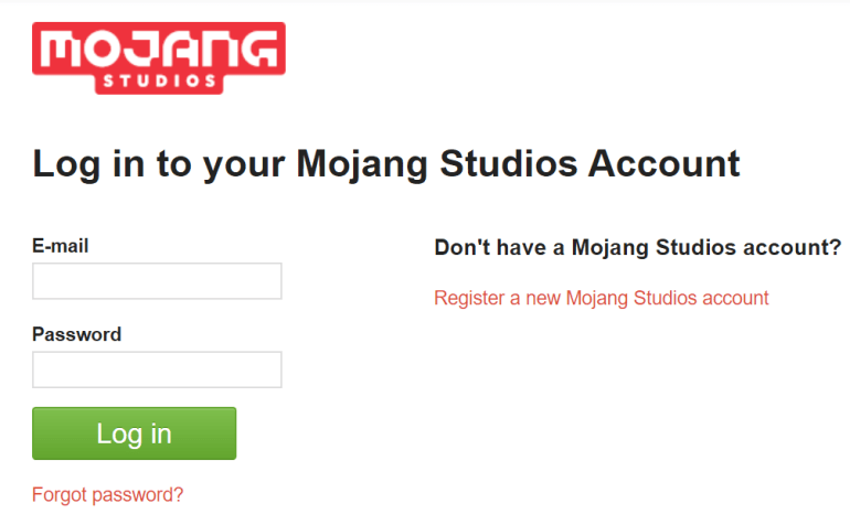 Mojang Account Login | logintips.net
