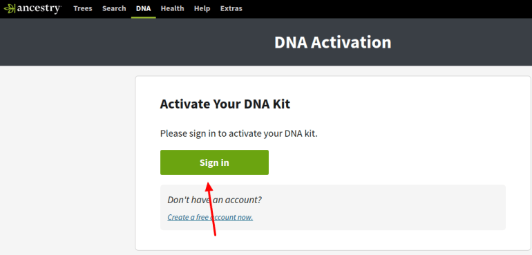 activate ancestry dna test kit