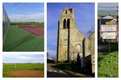 Logis de Villegruis : charmant petit village de Seine et Marne, son église Saint Médard et son terrain de sport avec tennis