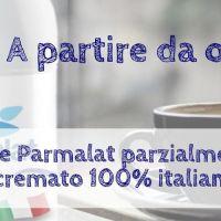 In arrivo il latte Parmalat parzialmente scremato 100% italiano