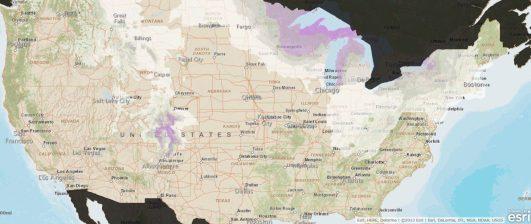 Esri ArcGIS Snowfall Forecast Map