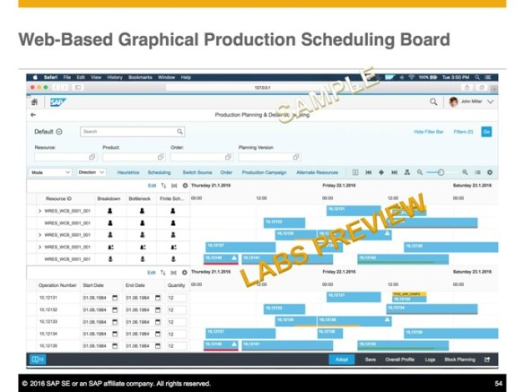 Enhancements in SAP Production Planning and Scheduling and