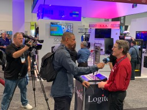 Tag Borland being interviewed by NAB Show Live about mixIT