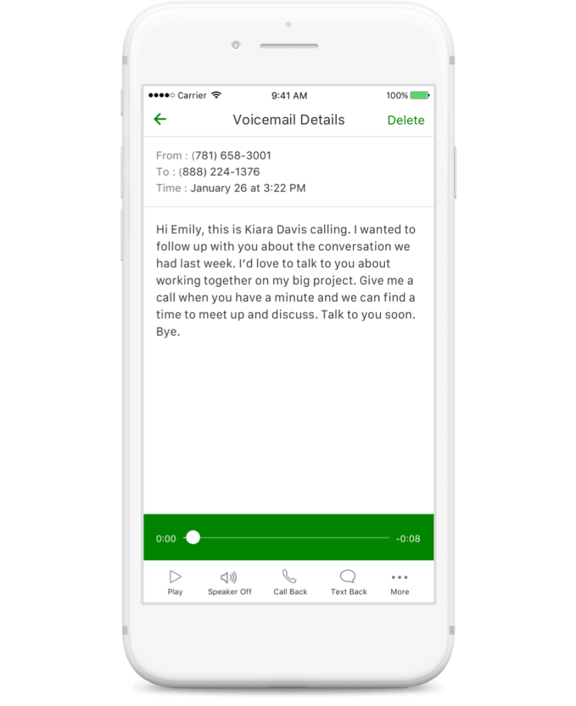 Grasshopper Review: voicemail