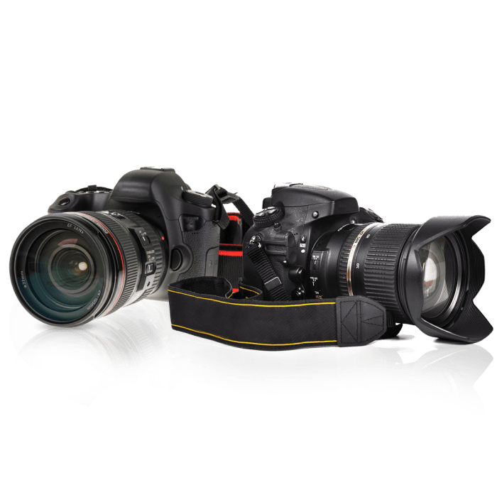 two cameras isolated object