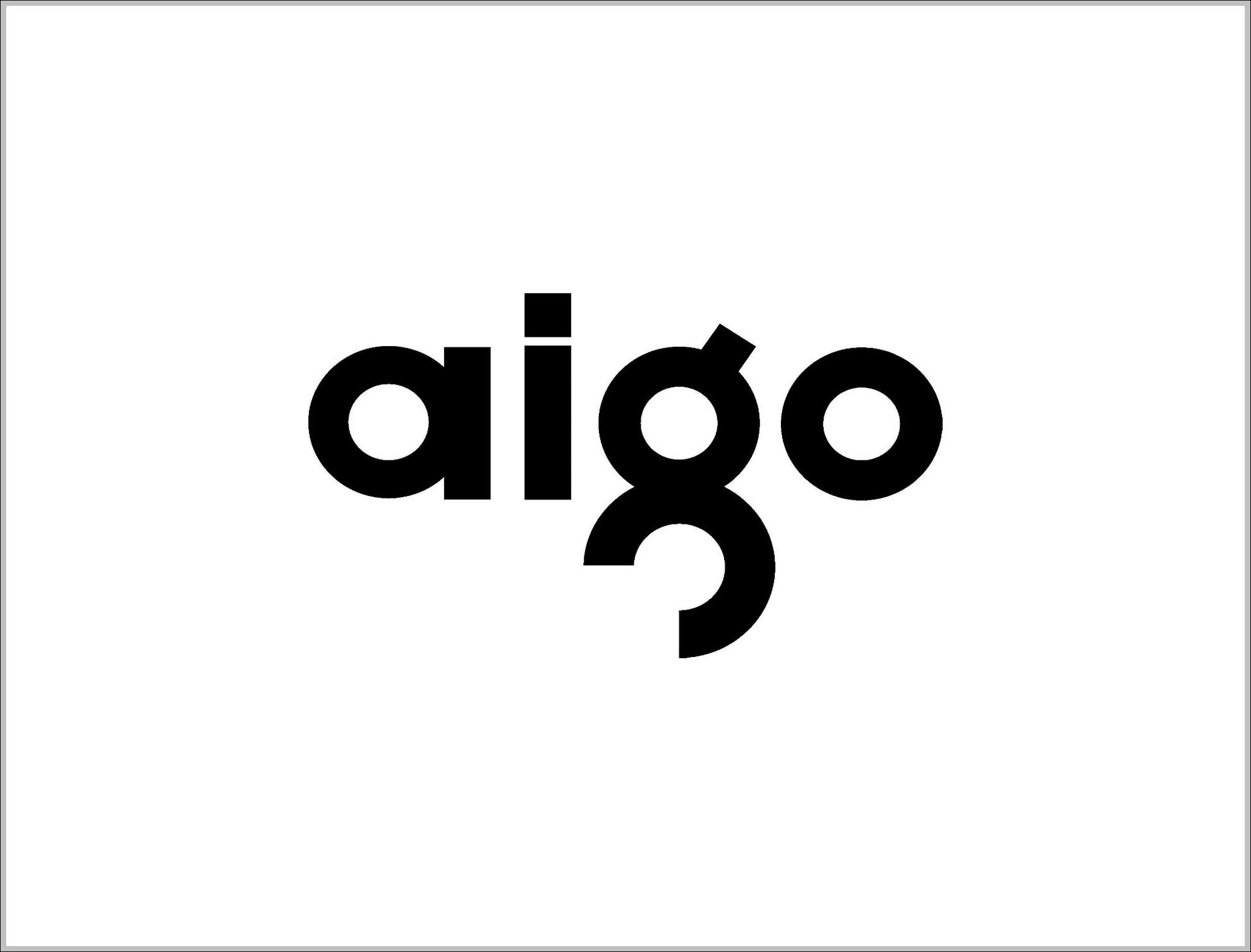 Aigo Trademark Logo Sign