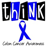 Think Blue Ribbon For Colon Cancer Awareness