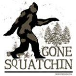 Gone Squatchin Sasquatch T-Shirts Magnets, Stickers, and more!