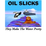 Oil Slicks.  They Make the Water Pretty.