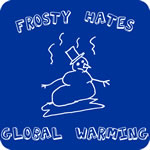 frosty calentamiento global