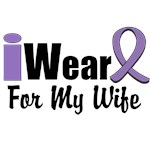 I Wear Violet Ribbon For My Wife Shirts