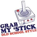 grab my 'stick old school style