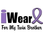 I Wear Violet Ribbon For My Twin Brother Shirts