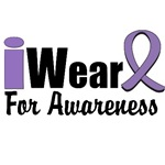 I Wear Violet Ribbon For Awareness