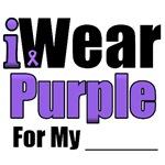 I Wear Purple Ribbon Awareness Shirts & Gifts