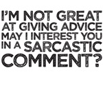 not great at advice sarcastic comment friends chandler tee