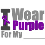 I Wear Purple Ribbon T-Shirts & Gifts