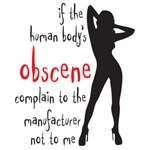 if the human body is obscene