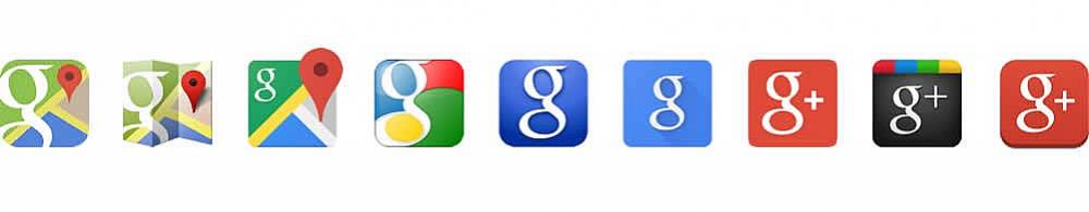 Favicons antigos do Google