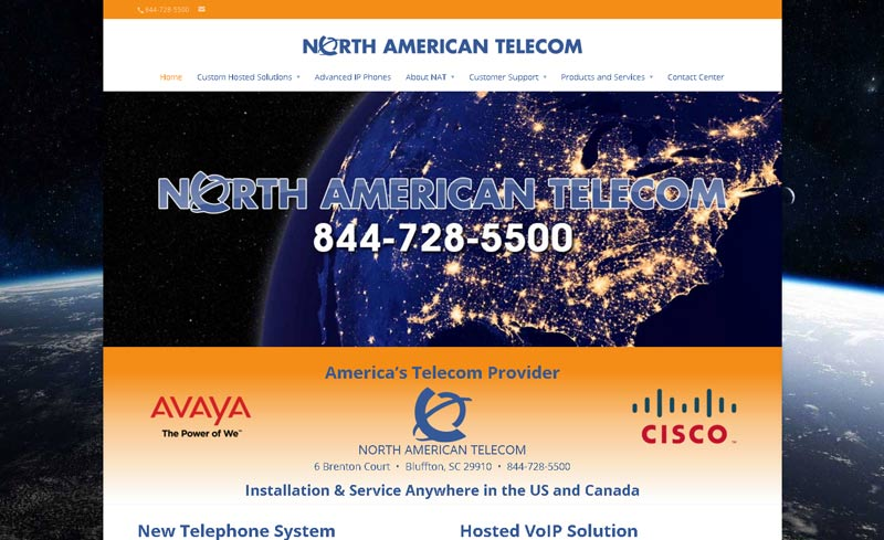 north american tele website design