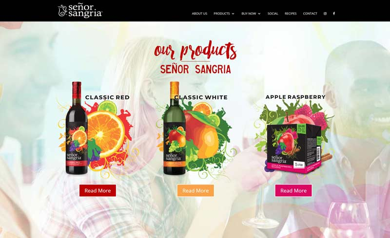 senor sangria website design