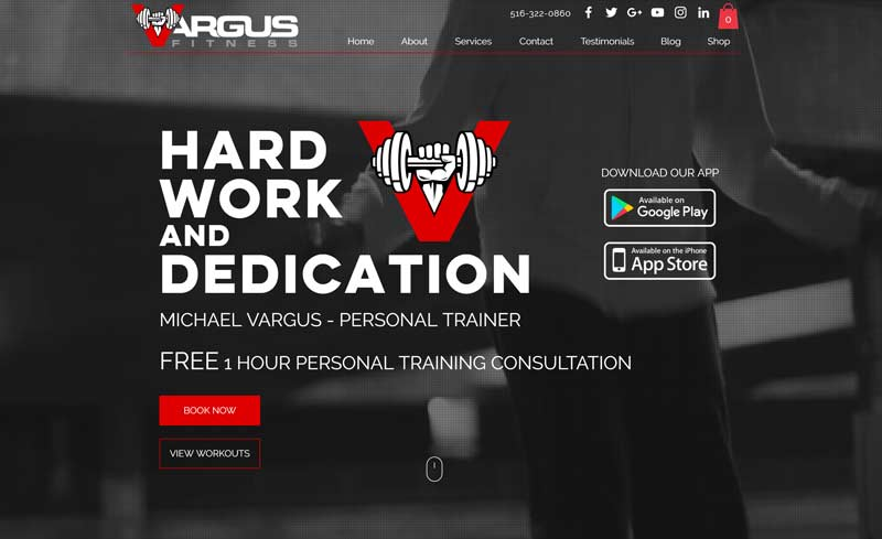 vargus fitness website design