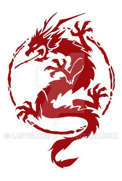 cool chinese dragon logo