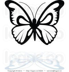 Butterfly Black and White Logo LogoDix