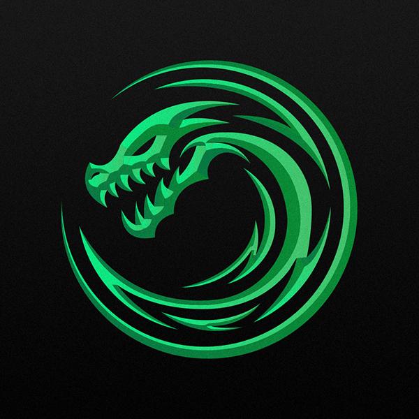 cool dragon logo logodix