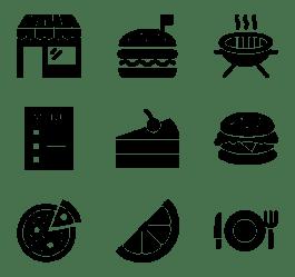 Black and White Food Logo LogoDix