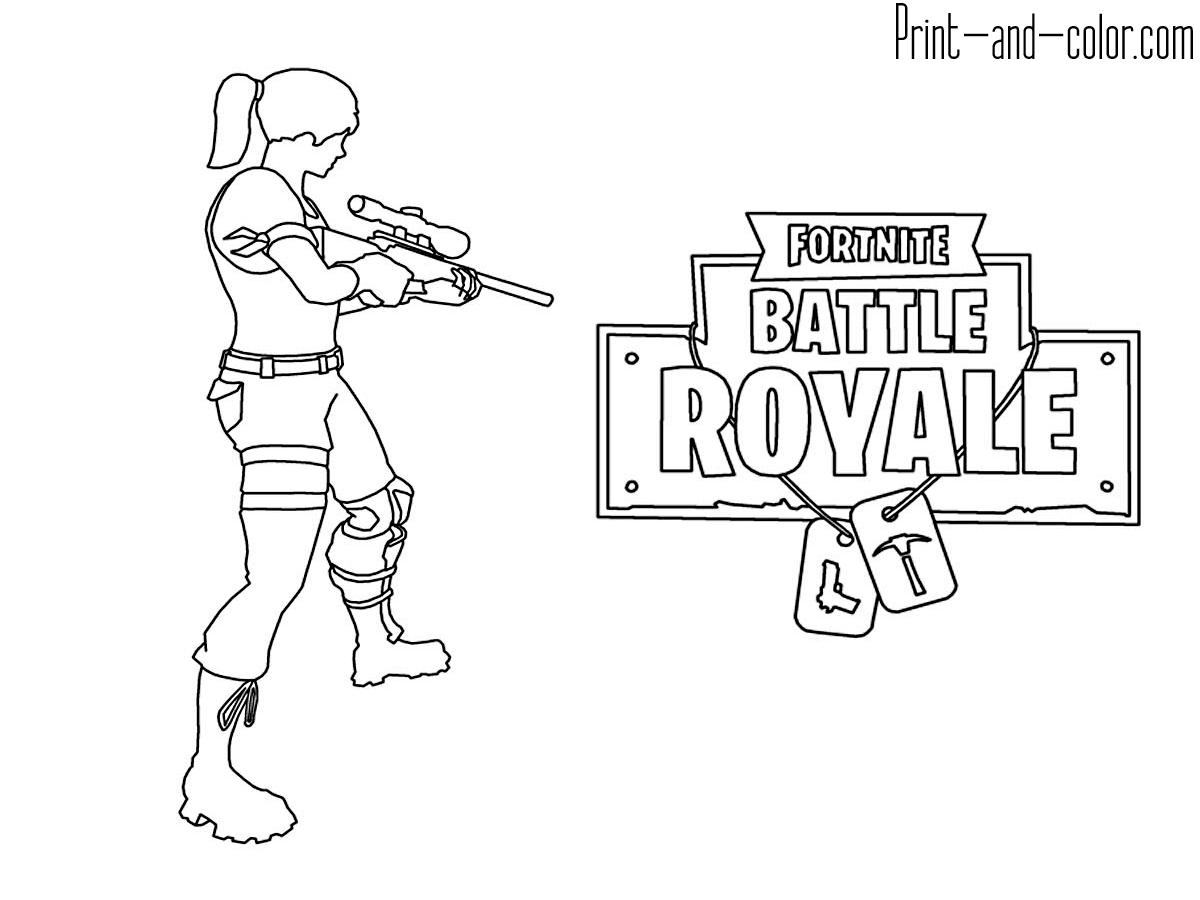 Coloring Fortnite Battle Royale Logo