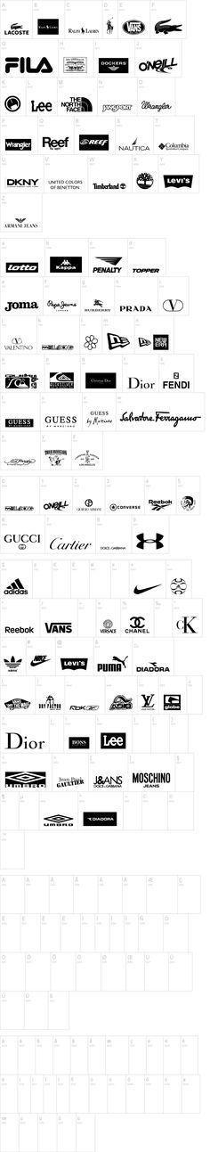 Women's Activewear Logos : women's, activewear, logos, Black, White, Athletic, Clothing, LogoDix