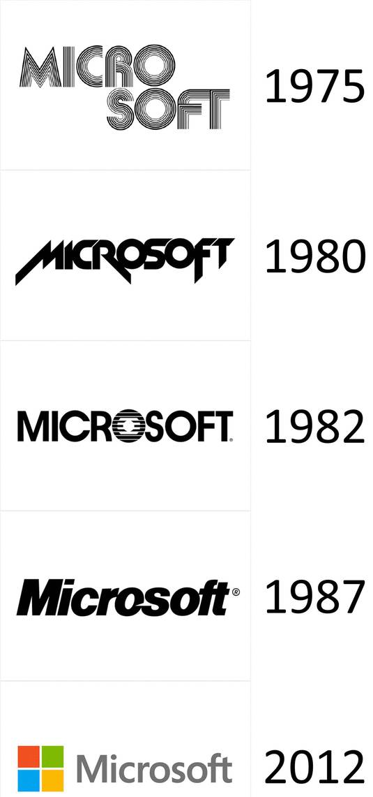 New Microsoft 2012 logo vector in (EPS, AI, CDR) free download