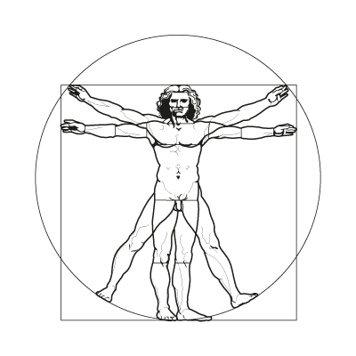 Vitruvian vector, Vitruvian in .EPS, .CDR, .AI format