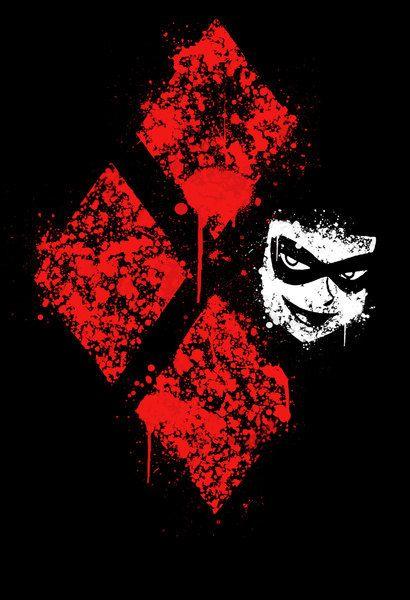 Harley Quinn Logo Wallpaper : harley, quinn, wallpaper, Harley, Quinn, Diamond, Pattern, Wallpaper