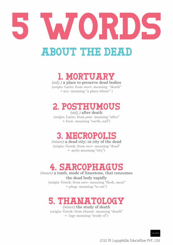 5 Words About The Dead Logophilia Edu Pvt Ltd Pioneers In