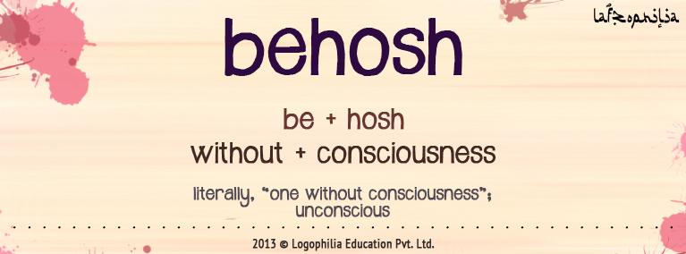 etymology of behosh