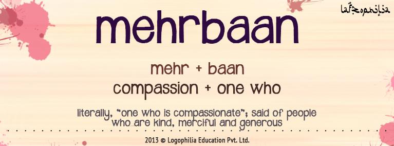 Etymology of Mehrbaan