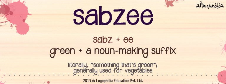 Meaning of Sabzee