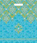 Купить оптом полиэтиленовый пакет Восточный орнамент с прорубной (вырубной) ручкой от Тико