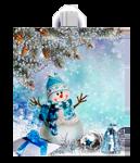 Купить оптом полиэтиленовый пакет Снеговичок с петлевой ручкой