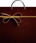 Купить оптом полиэтиленовый пакет Золотой бантик ТИКО-Пластик 37x36 с пластиковой ручкой