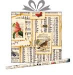 Бумага оберточная Нотная Тетрадь, купить оптом в Санкт-Петербурге