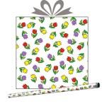 Бумага оберточная Тюльпаны, купить оптом в Санкт-Петербурге